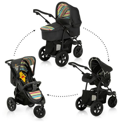 New Hauck Disney Viper 3 wheeler Trio Set (Winnie the Pooh Tidy Time)+raincover+carrycot+car seat